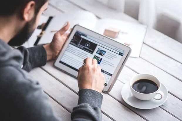 Человек, Чтение, Сенсорный Экран, Блог, Цифровой