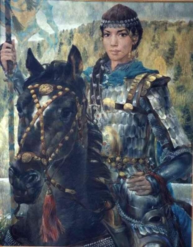 У волжских татар мало общего с монголами. Картина Булата Гильванова.