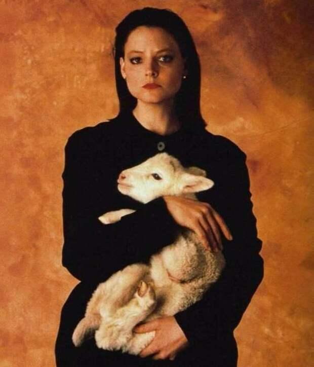 Джоди Фостер на промо-фото Молчание ягнят в 1991 году.