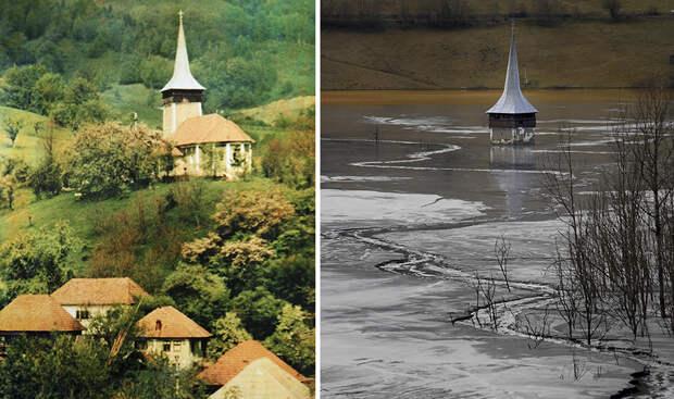 Румынская деревня Джамана тонет возере промышленных отходов