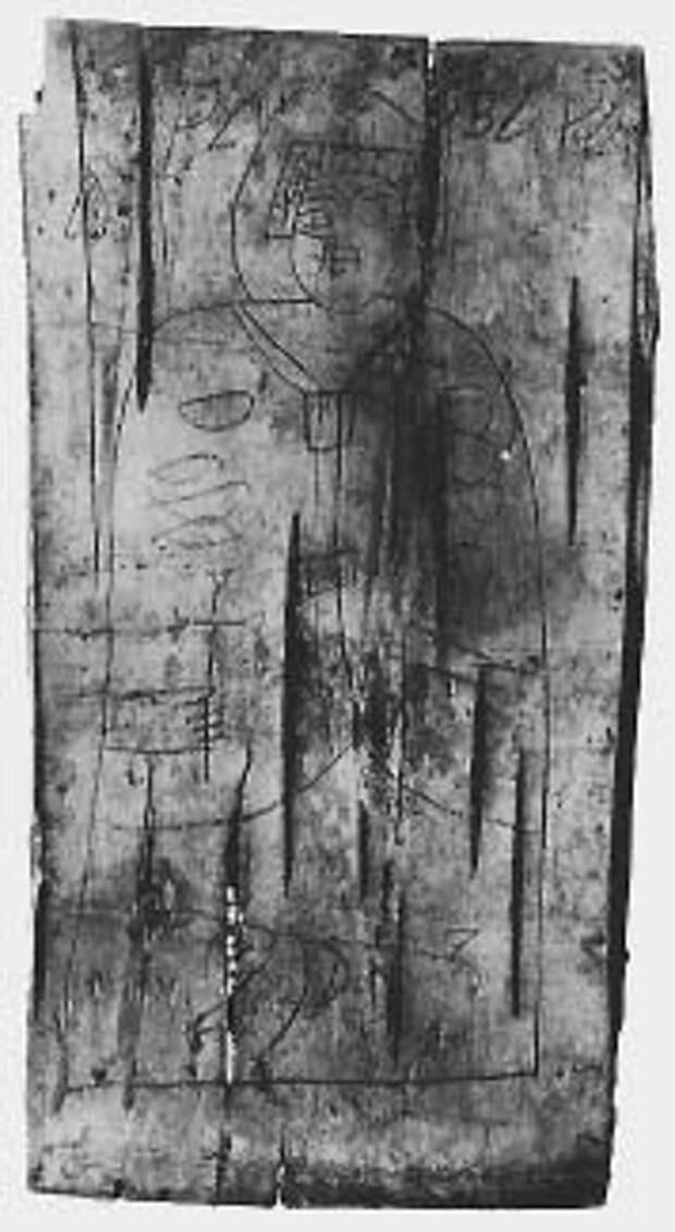 Изображение святой Варвары на бересте. 1029 год