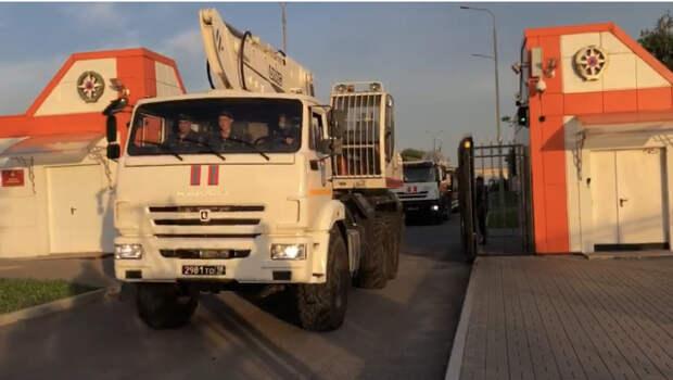 В Крым для ликвидации последствий подтопления направили ещё один эшелон аэромобильной группы