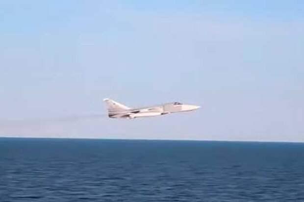Опубликовано видео пролета российского Су-24 вблизи эсминца ВМС США «Дональд Кук»