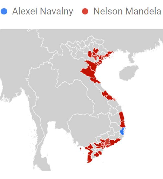 Алексей Навальный vs Нельсон Мандела в Google Trends