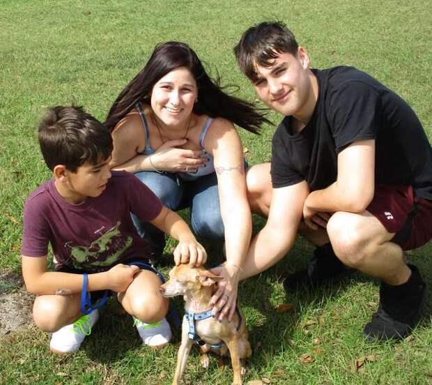Семья плакала, держа на руках тощего пса, который потерялся 6 лет назад. А ведь малыш вспомнил хозяев