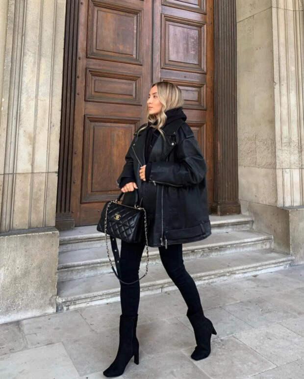 Как носить зимой модные узкие брюки — вдохновляющие образы от блогеров