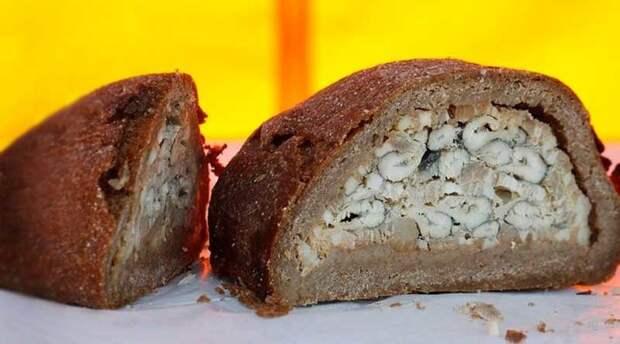 Еще хлеб с рыбой - очень вкусно! вкусно, еда, красота, многослойное, необычно, пироги. мясо