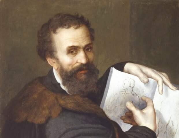 Портрет Микеланджело Буонарроти.