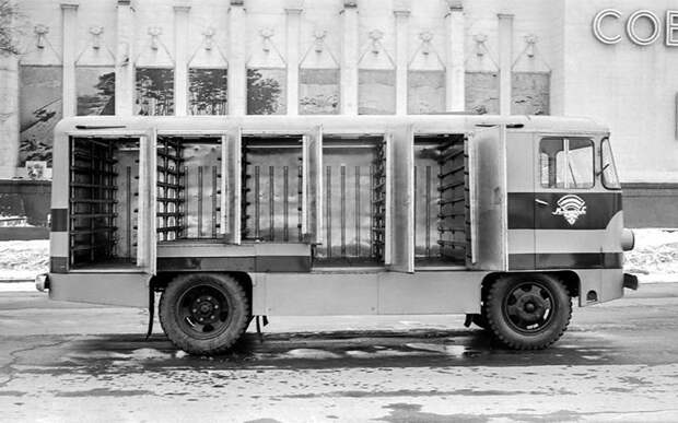 ТА-9А СССР, авто, автомобили, автофургон, грузовик, ретро техника, фургон, хлеб