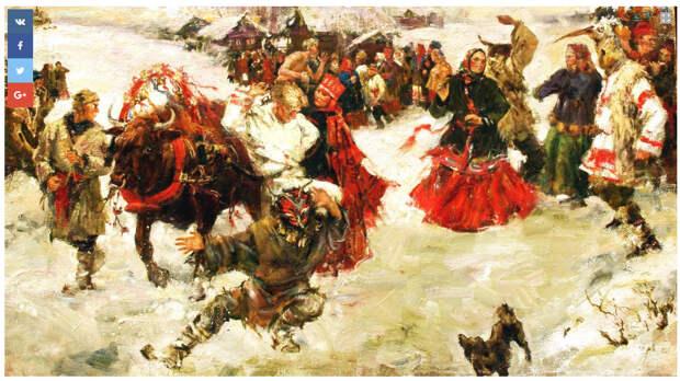 Наша современница рисует в русском стиле