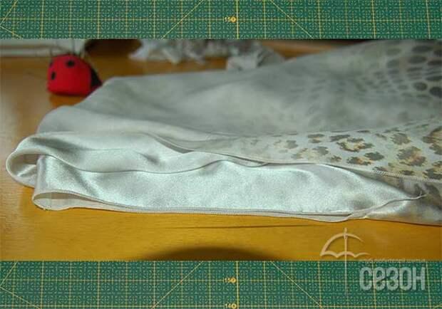 Двухслойное платье из двух прямоугольников