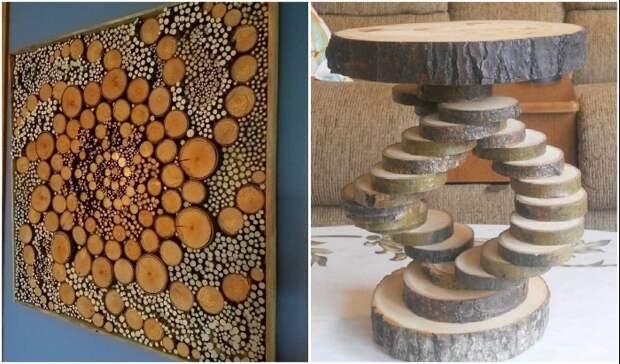 Спилы дерева в оформлении дома и двора: вдохновляющие идеи и тонкости использования