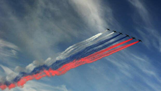 Самолеты начали подготовку к параду Победы в Московской воздушной зоне