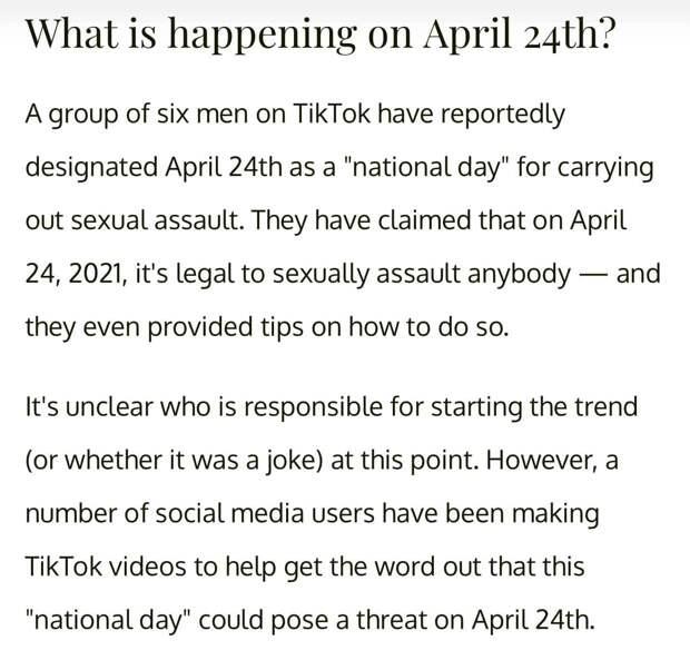 Россиянок напугали Международным днем изнасилований. «Праздник» оказался уткой, но многие поверили