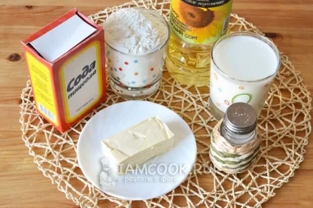 Ингредиенты для казахских лепёшек Шельпеки