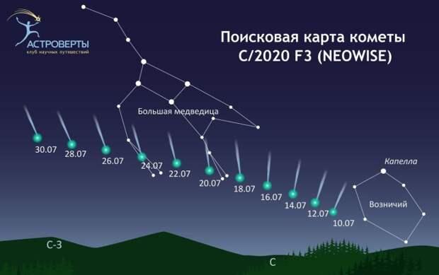 Комета Неовайс: что известно осамом красивом небесном объекте 2020 года