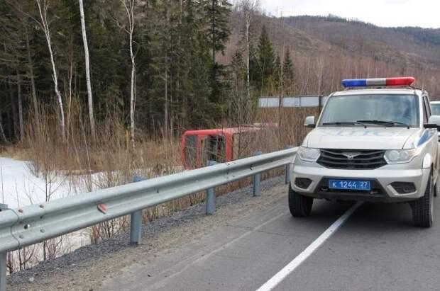 Водитель автобуса, попавшего в ДТП под Хабаровском, уснул за рулём
