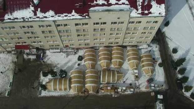 Мобильный госпиталь на Прикарпатье