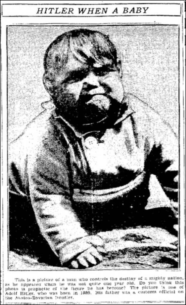 Мистическая история подделки детской фотографии Гитлера