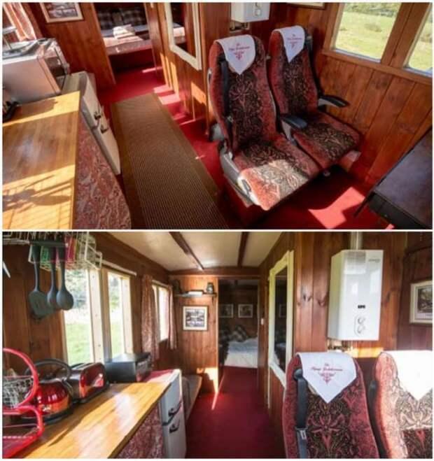 Британка из вторсырья построила точную копию старинного вагона и превратила его в отель