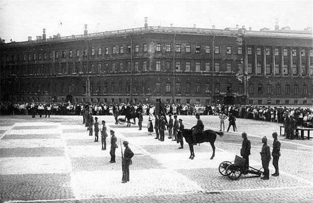 Фотография «живой» шахматной игры, 1924 год