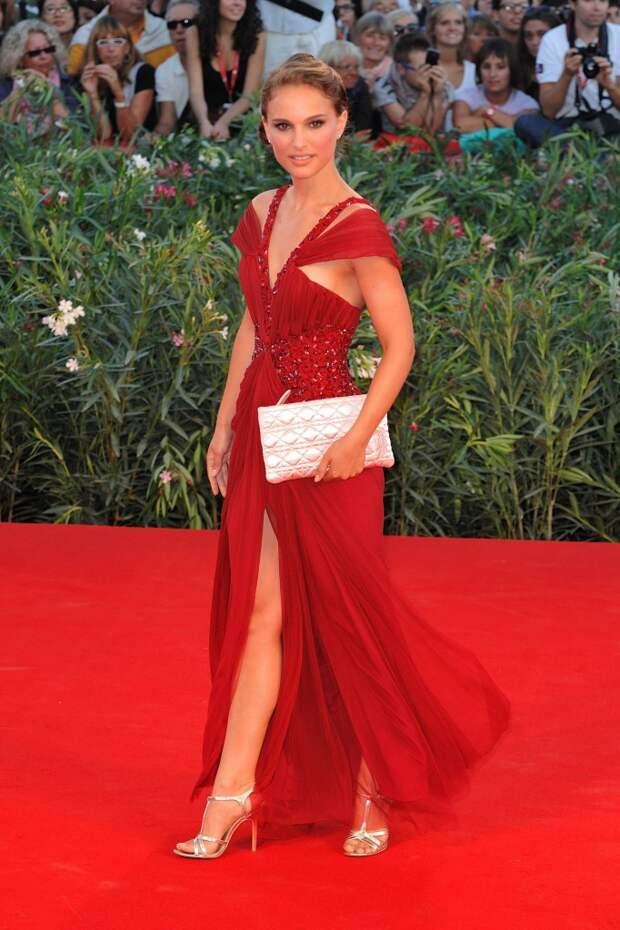 Natalie Portman red dress