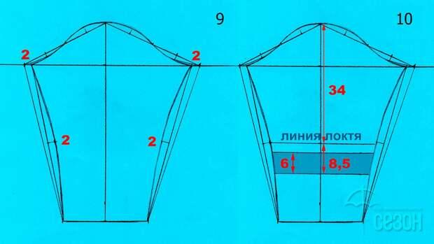 Моделирование V-образной горловины со складками 5