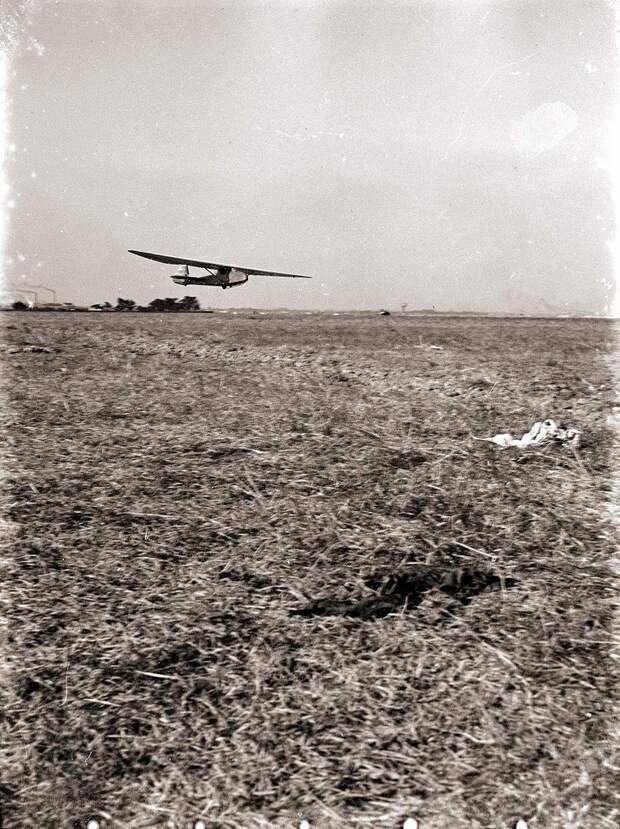 Glider Landing or Takeoff, 1930s Japan