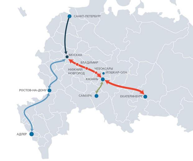 ВСМ Москва-Петербург, первая арабская АЭС и рост числа наличных в России