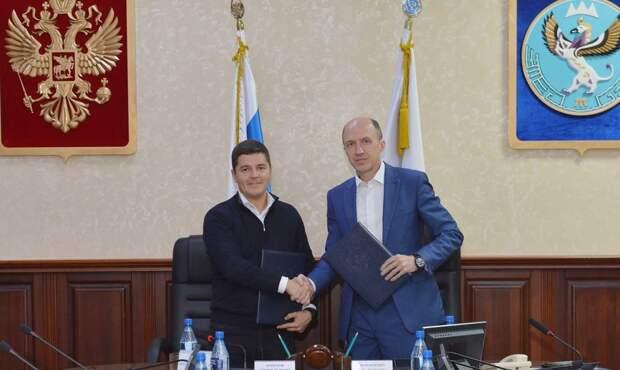 Губернатор ЯНАО и глава республики Алтай подписали соглашение о сотрудничестве
