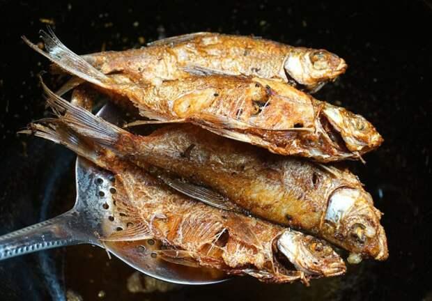 степень правильной обжарки рыбы во фритюре
