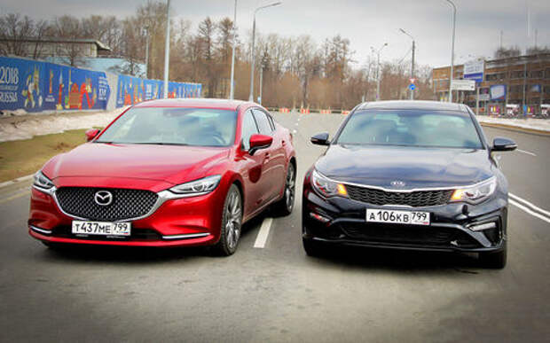Kia Optima – Mazda 6: оптимальный ответ