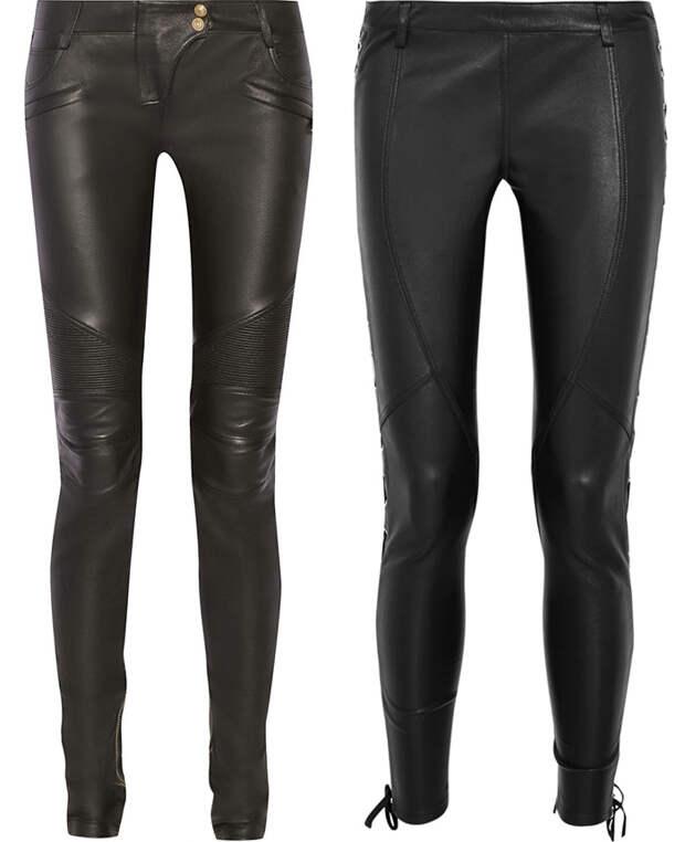 Роскошные кожаные брюки на зиму 2016