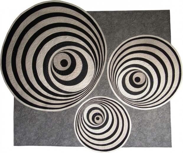 Квилт с оптической иллюзией