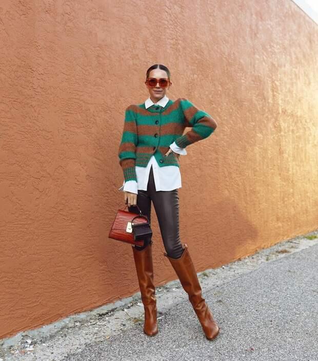 Вязаный жакет – уютная альтернатива пиджаку: 10 стильных доказательств