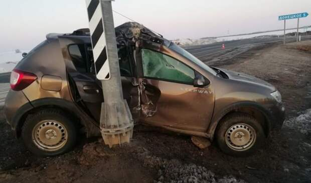Уснувшая за рулем автоледи устроила аварию в Переволоцком районе