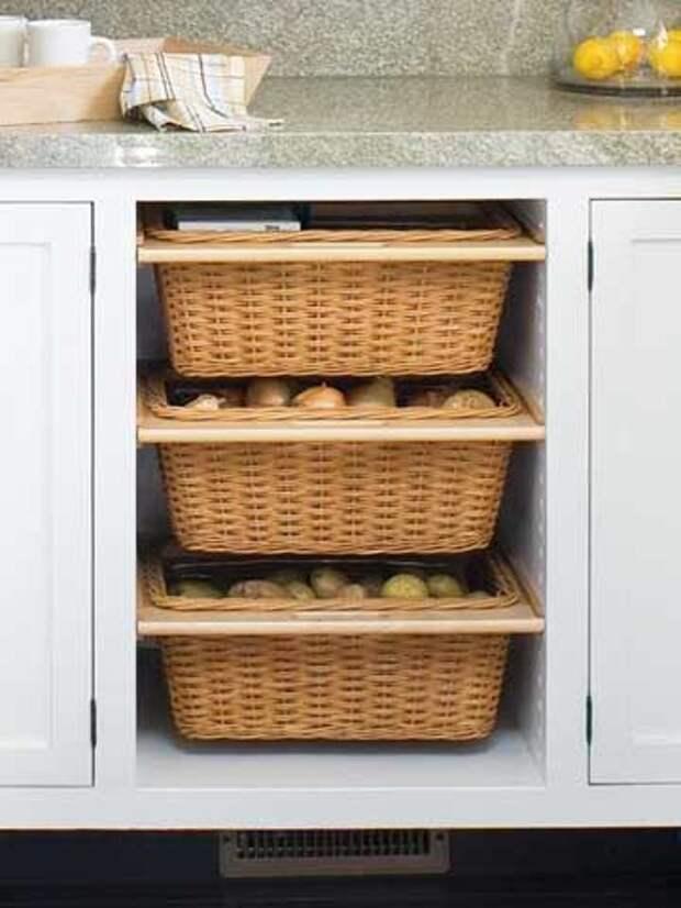 12 умных решений для хранения фруктов и овощей на крошечной кухне