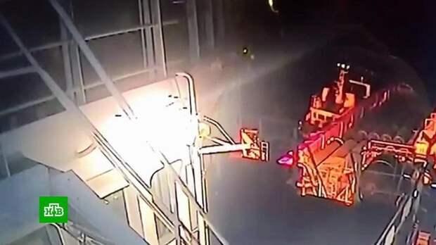 Видео атаки на трубоукладчик «Северного потока — 2»