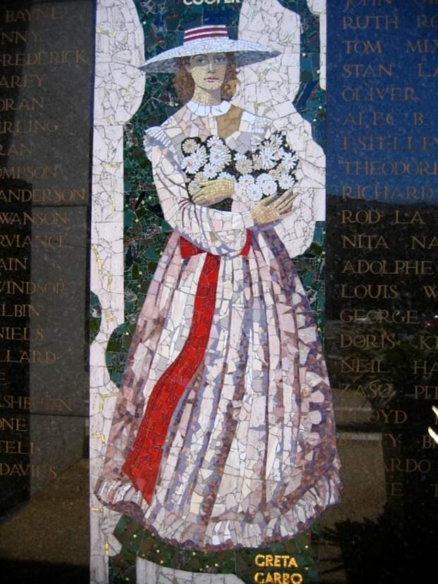 Грета Гарбо. Витраж / Greta Garbo. Stained-glass