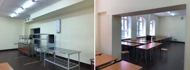 Столовую школы на Ленинградке «освежили»