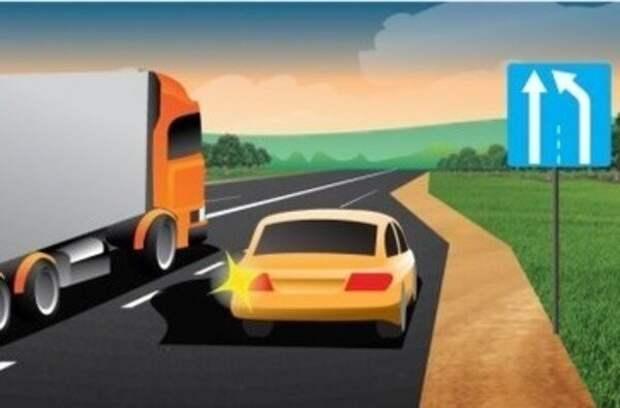 Можно ли обогнать медленное транспортное средство по полосе разгона? Ответ инспектора ГИБДД
