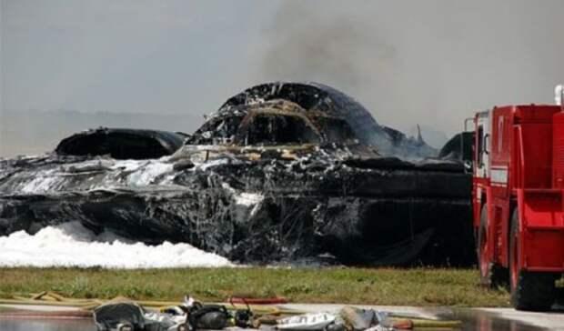 Крушение самого дорогого бомбардировщика попало на видео
