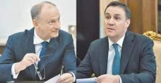 Николай Патрушев и его сын Дмитрий (фото: Алексей Дружинин/ТАСС, РИА Новости)