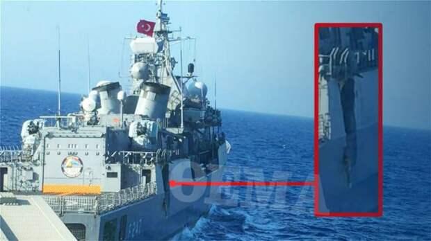 Турецкий фрегат получил серьезную пробоину после столкновения с греческим сторожевиком