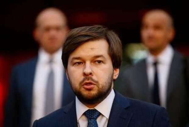 Pavel Sorokin, Russian Deputy Energy Minister speaks to the media in Minsk, Belarus April 26, 2019. REUTERS/Vasily Fedosenko