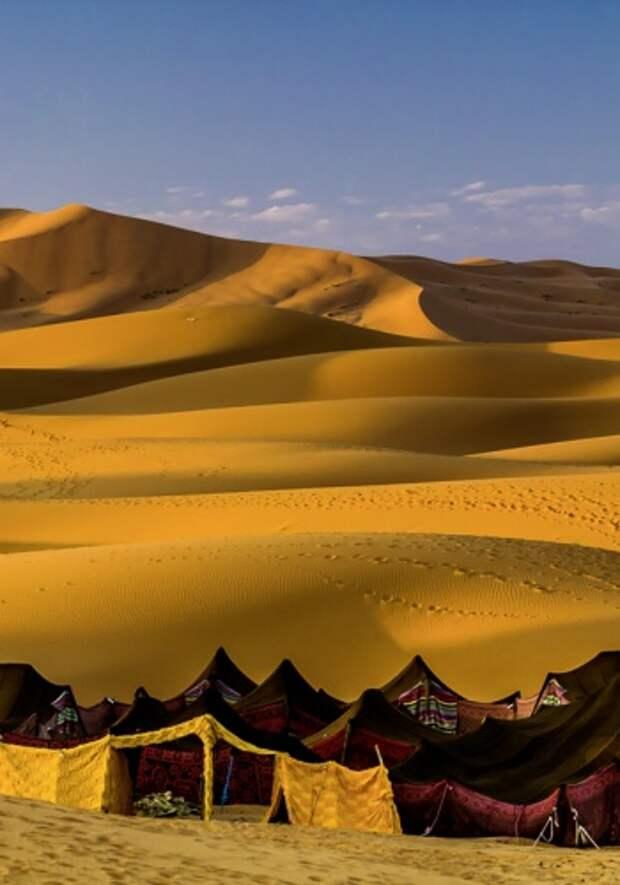 Пустыня легко запутает неопытного гостя
