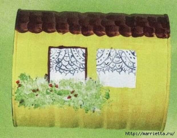 Сказочный паровозик из крышек и железных банок (4) (431x338, 83Kb)