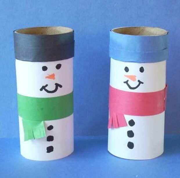 Как сделать снеговика из бумаги (53 фото)