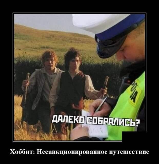 Демотиватор про полицию и самоизоляцию