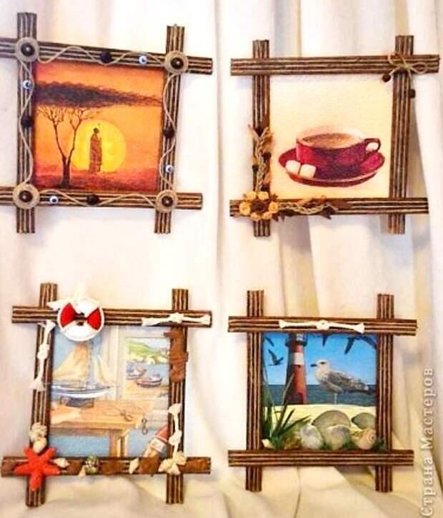 Рамки для панно и картин из бумаги своими руками